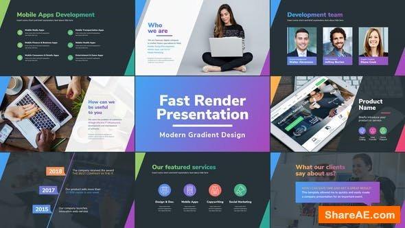 Videohive Fast Render Presentation | Modern Gradient Design
