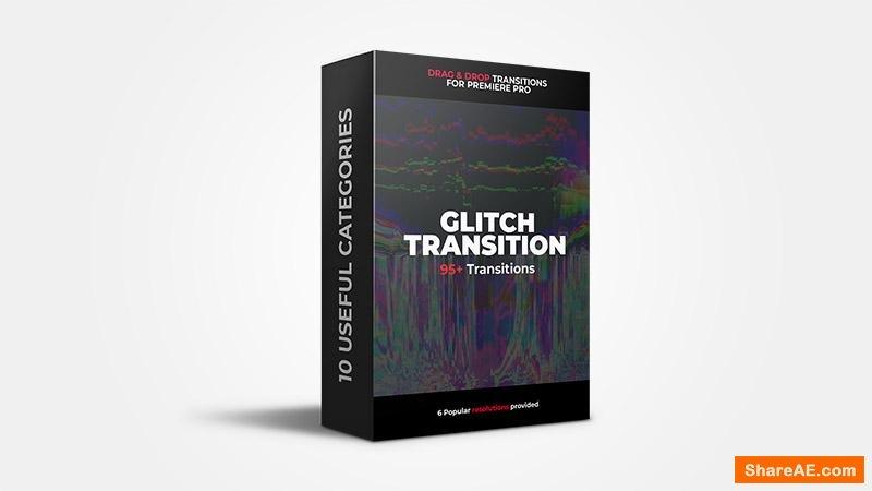 95+ Glitch Transitions - Premiere Pro - Flatpackfx