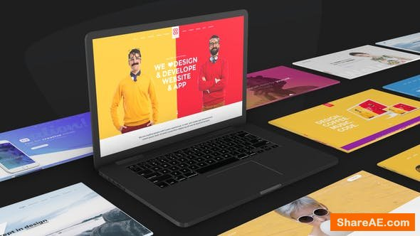 Videohive Website Promo On Macbook Device - Animated Mockup