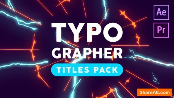 Videohive Typographer-Titles Pack