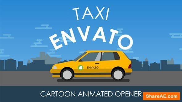 Videohive Animated Taxi Opener