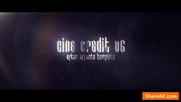 Videohive Cine Credit V.6