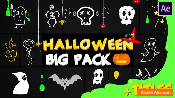 Videohive Halloween Party Elements And Titles | After Effects