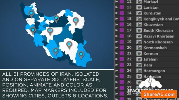 Videohive Iran Map Kit
