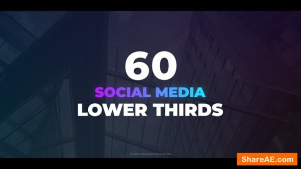 Videohive 60 Social Media Lower Thirds
