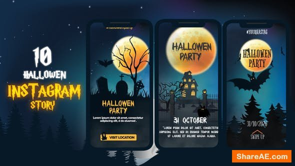 Videohive Halloween Instagram Stories 24901551