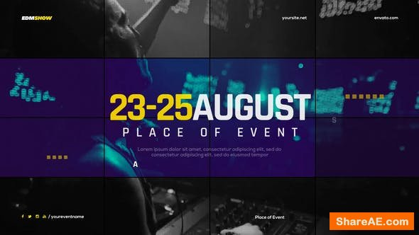 Videohive Music Event Promo Slides