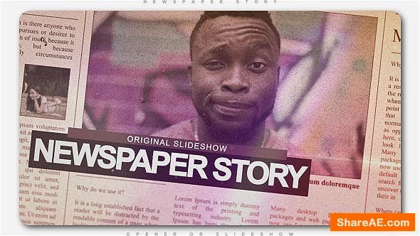 Videohive Newspaper Story Slideshow