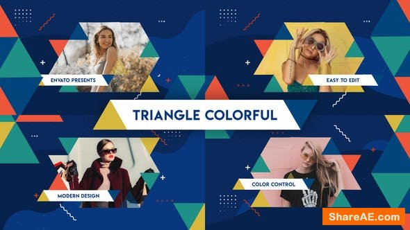 Videohive Triangle Colorful Opener