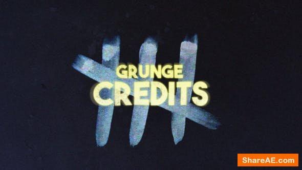 Videohive Grunge Credits