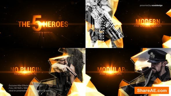 Videohive The Five Heroes Cinematic Title