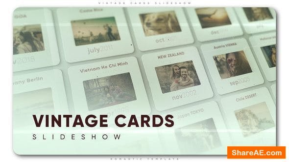 Videohive Vintage Cards Slideshow