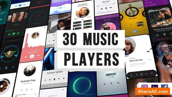 Videohive Music Visualization Players for Instagram Story