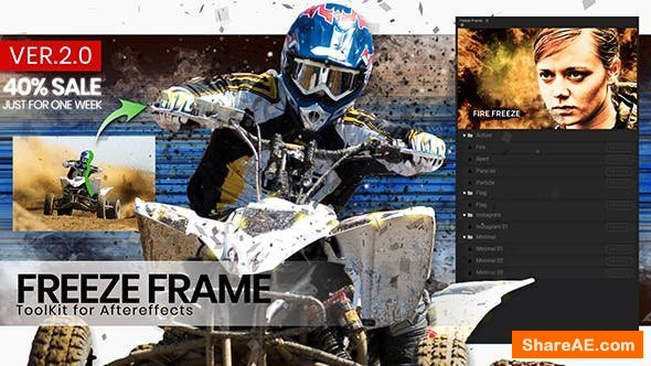 Videohive Freeze Frame intro ToolKit - After Effects Scripts