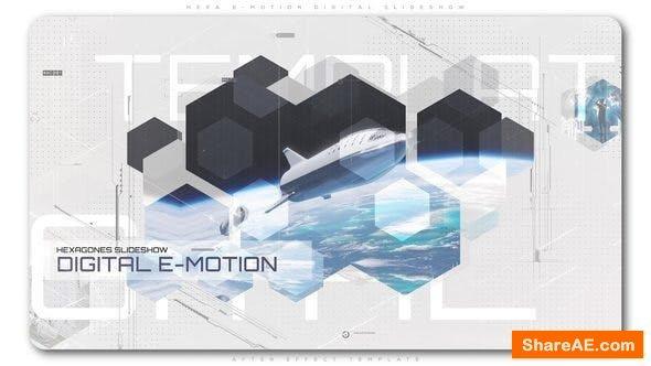 Videohive Hexa E Motion Digital Slideshow