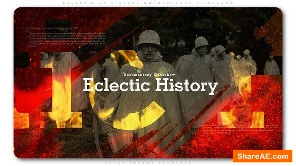 Videohive Eclectic of History Documentary Slideshow