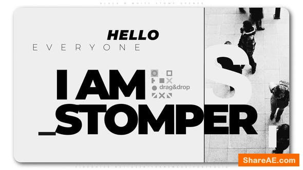 Videohive Black And White Stomp Opener