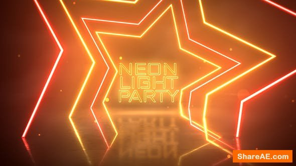 Videohive Neon Light Party Opener