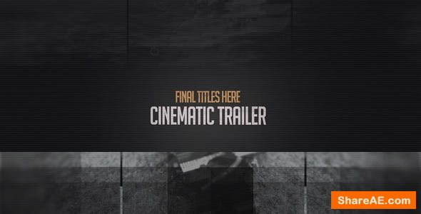 Videohive Cinematic Trailer 15133607
