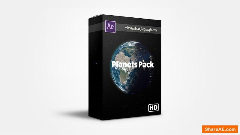 Flatpackfx Realistic Planets Pack - After Effects