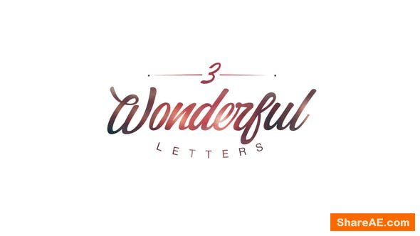 Videohive Wonderful Letters 3