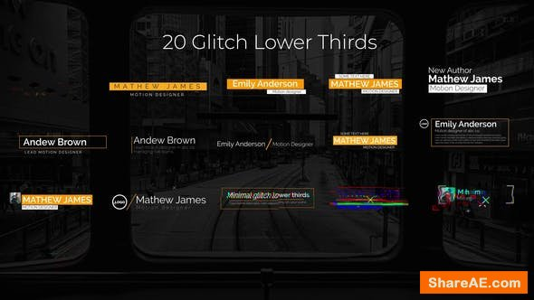 Videohive Glitch Lower Thirds 25001972