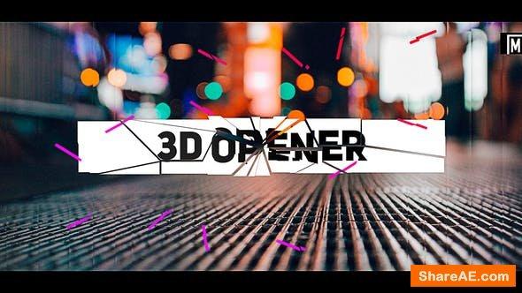 Videohive Stomp 3D Opener