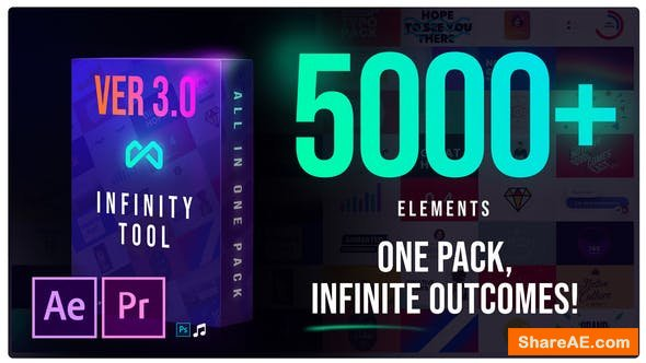 Videohive Infinity Tool - The Biggest Pack for Video Creators v3.0[5000+ Elements]