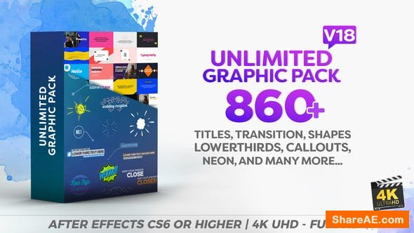 Videohive Shapes & Elements Graphic Pack v18