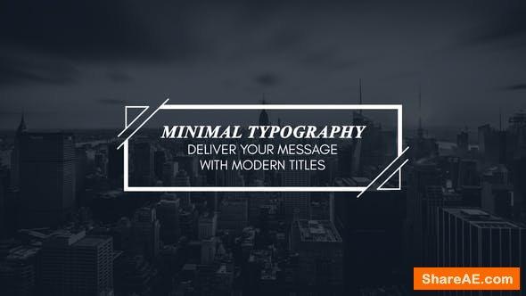 Videohive Minimal Modern Typography
