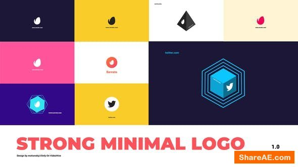 Videohive Strong Minimal Logo