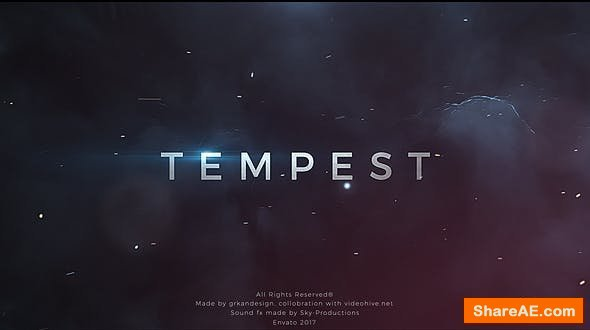 Videohive Tempest   Trailer Titles