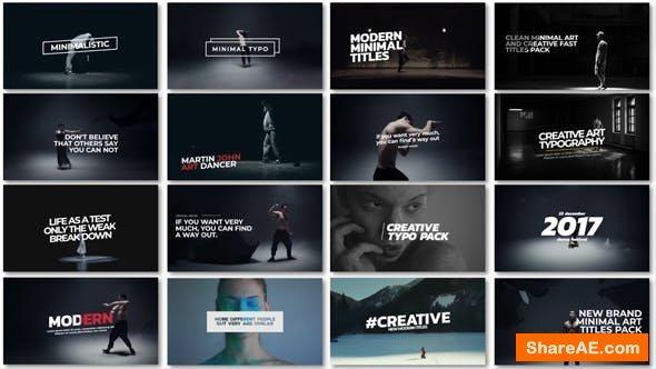 Videohive Minimal Art Titles - Premiere Pro 21488099