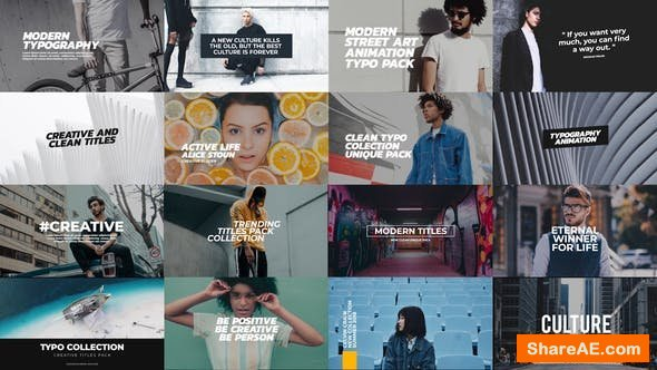 Videohive Trendy Titles Pack - Premiere Pro
