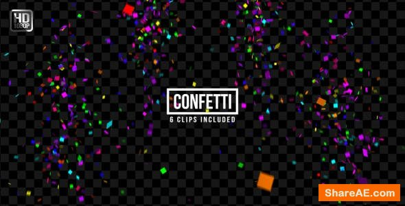Videohive Confetti - Motion Graphics