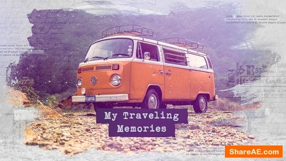 Videohive Traveling Slideshow / Memories Photo Album / Family and Friends / Adventure and Journey