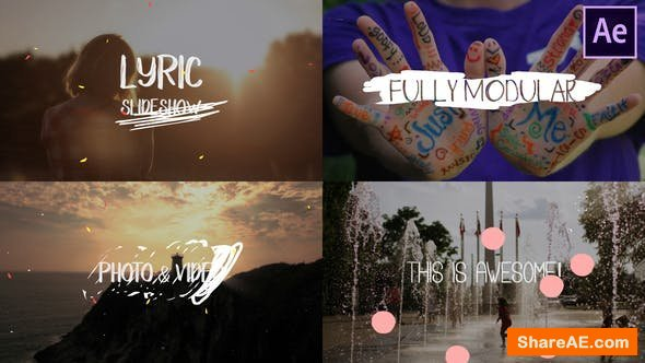 Videohive Lyric Slideshow | After Effects