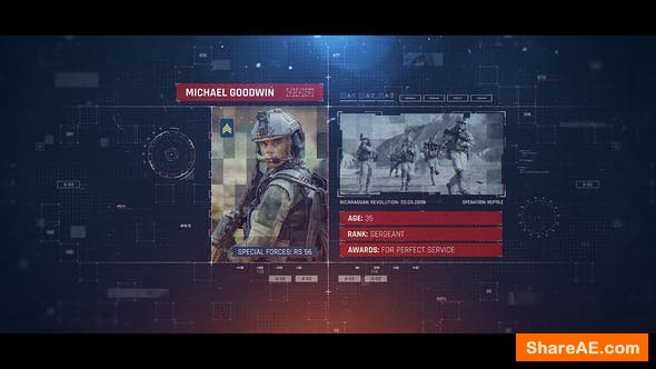 Videohive Military Identification
