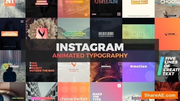 Videohive Instagram Typography