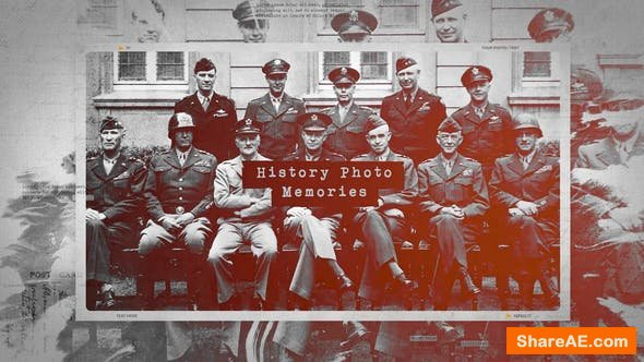 Videohive History Photo Memories