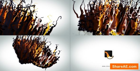 Videohive Liquid Wax Logo Intro