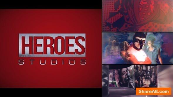 Videohive Heroes Logo Intro