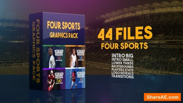 Videohive Four Sports Graphics Pack