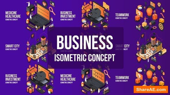 Videohive Business Investment- Isometric Concept