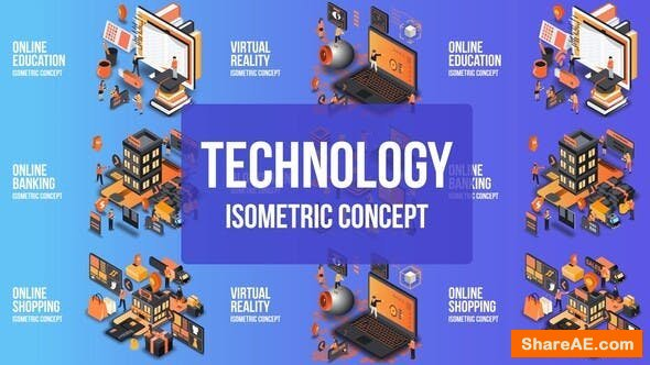 Videohive Future Technology - Isometric Concept