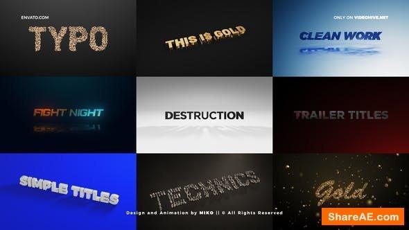 Videohive Titles - Unique Element 3D Scenes