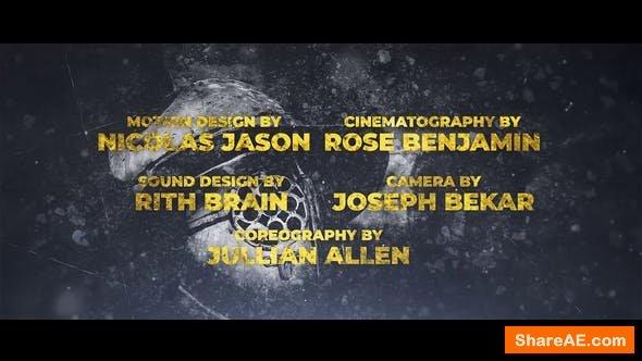 Videohive Cine Credit V.8