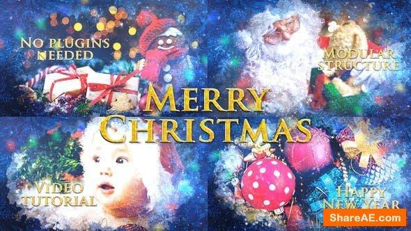 Videohive Merry Christmas Slideshow / Holiday Greetings / Winter Memories Album / New Year Titles