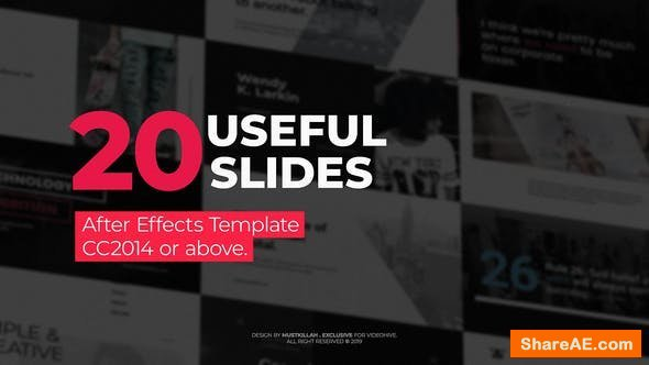 Videohive 20 Useful Typography Slides