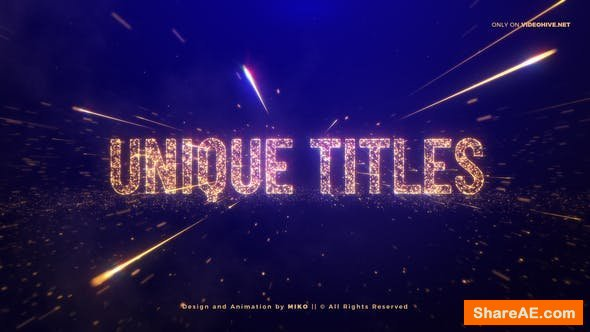 Videohive Awards Gold Particles Titles